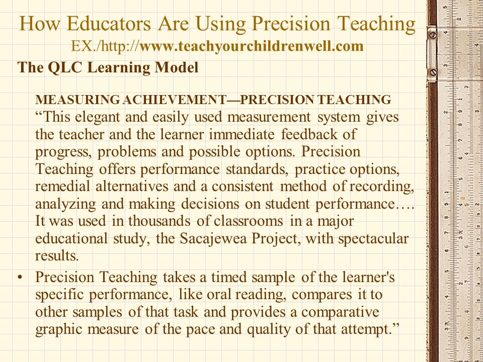 How Educators Are Using Precision Teaching EX. /http://www