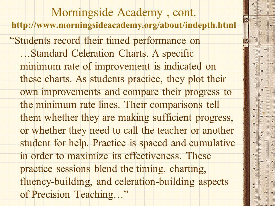 Morningside Academy , cont. http://www. morningsideacademy