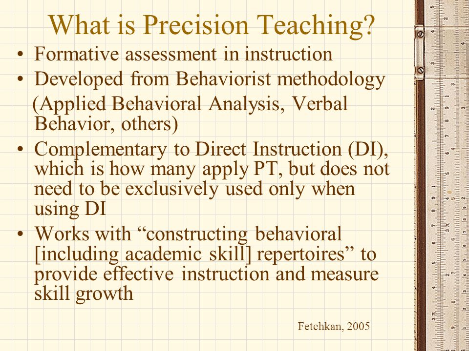 What is Precision Teaching