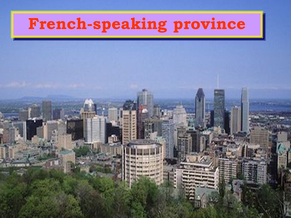 French-speaking province