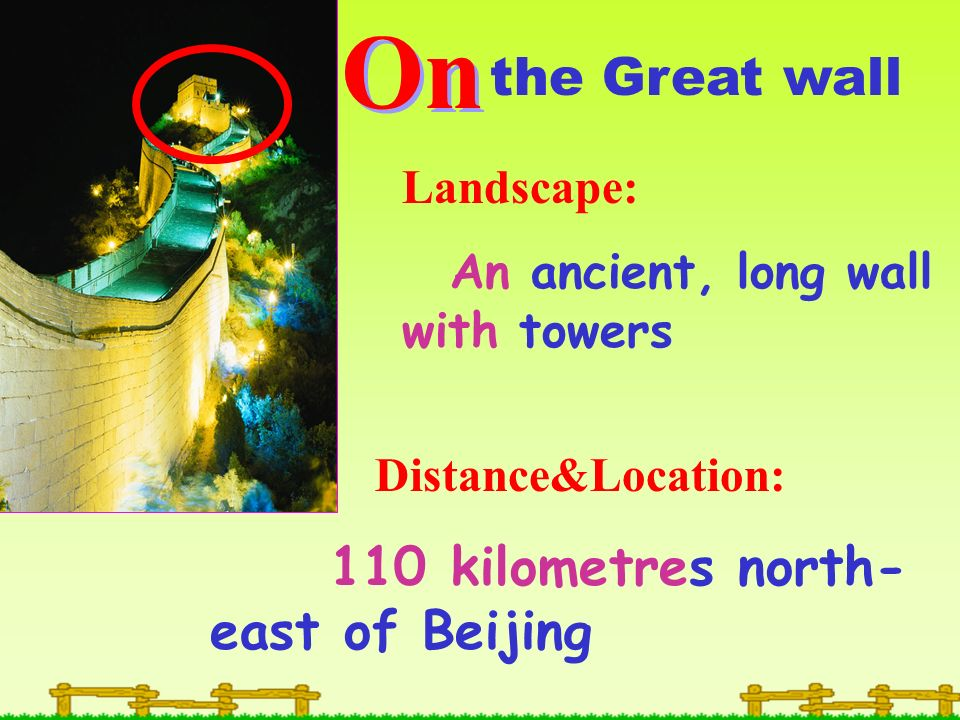 On the Great wall Landscape: An ancient, long wall with towers