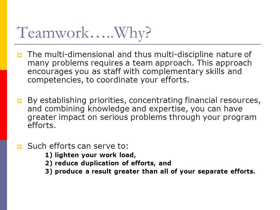 Teamwork…..Why