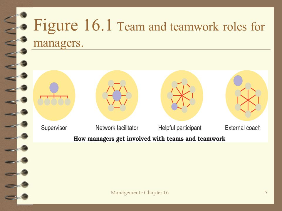 Figure 16.1 Team and teamwork roles for managers.