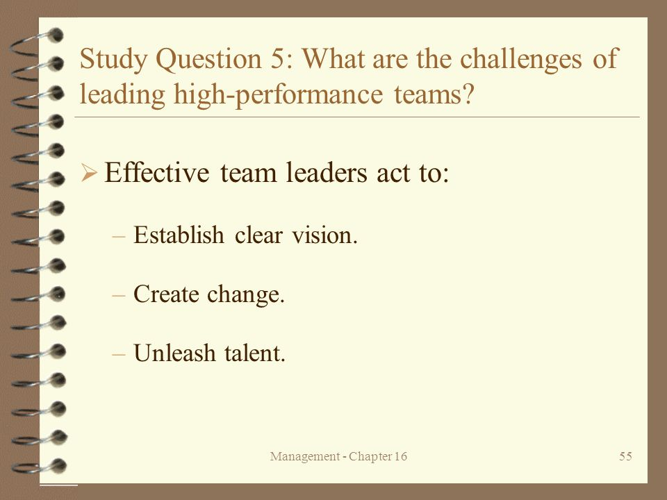 Effective team leaders act to: