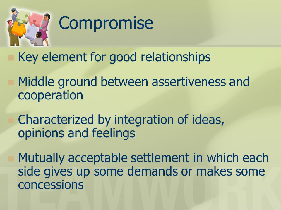Compromise Key element for good relationships