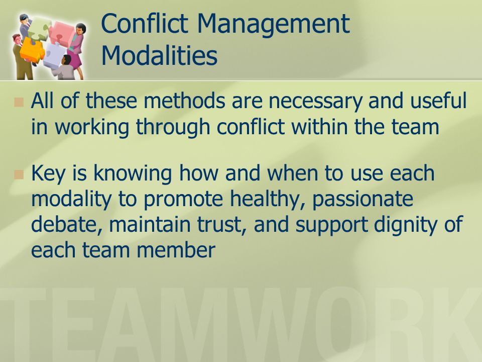 Conflict Management Modalities