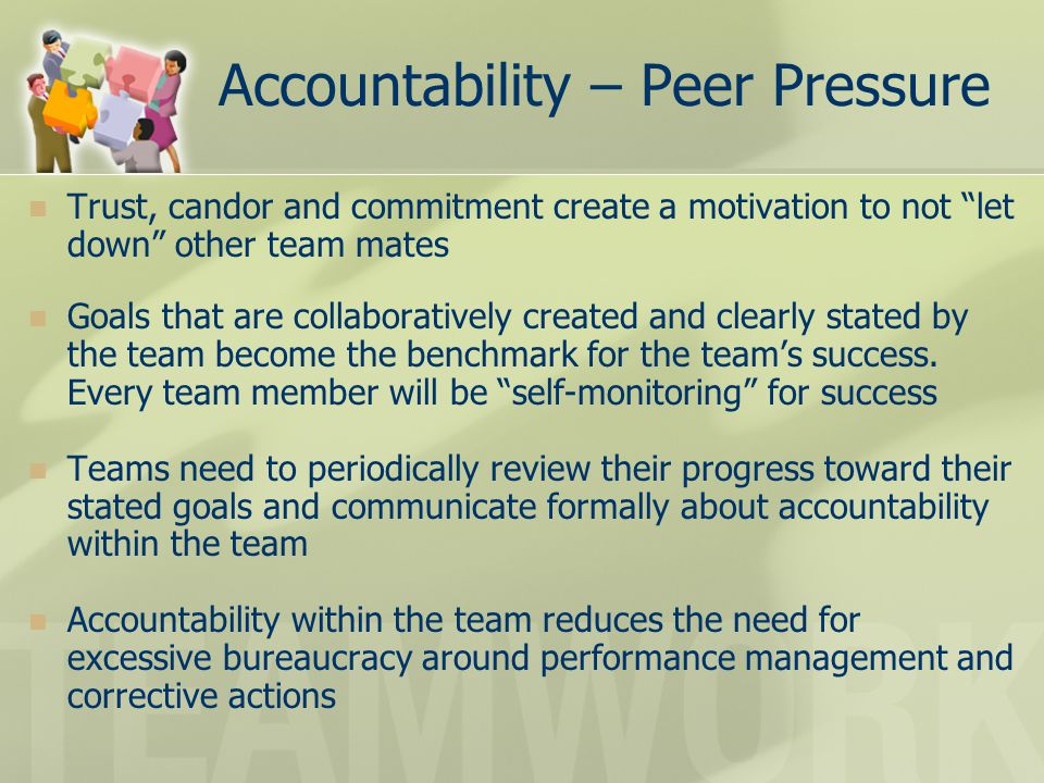 Accountability – Peer Pressure