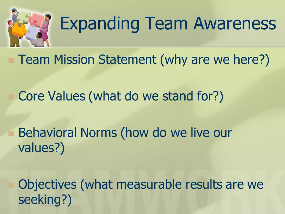 Expanding Team Awareness
