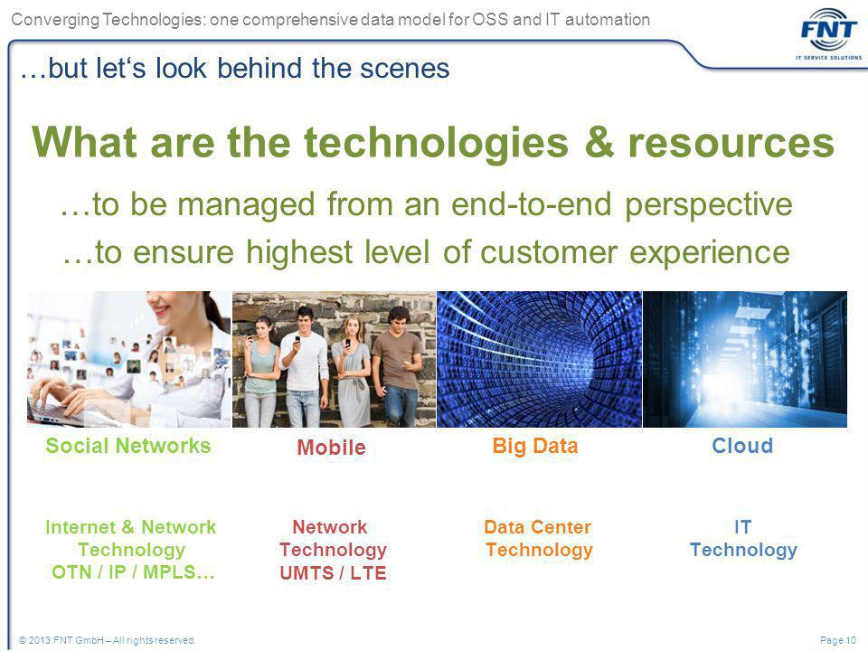 What are the technologies & resources