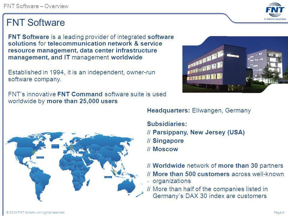 FNT Software – Overview