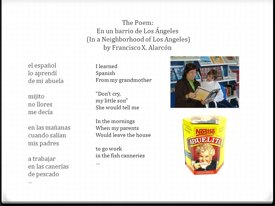 The Poem: En un barrio de Los Ángeles (In a Neighborhood of Los Angeles) by Francisco X. Alarcón