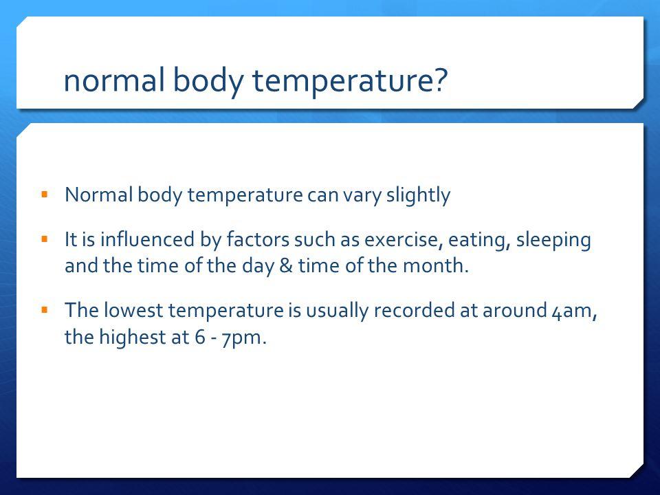 normal body temperature