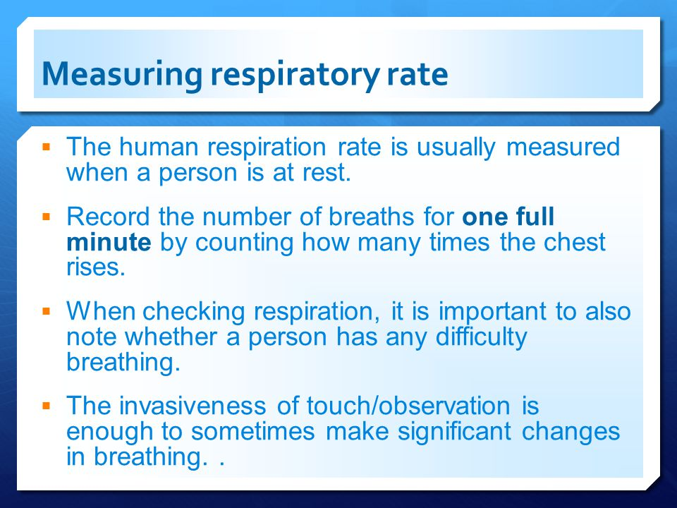 Measuring respiratory rate
