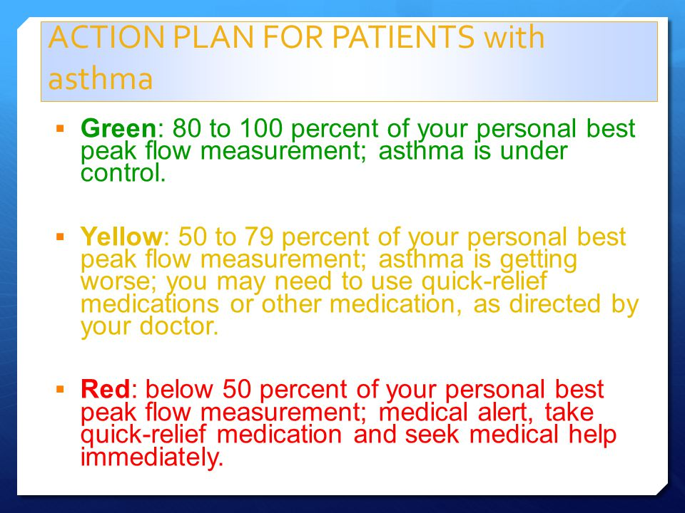 ACTION PLAN FOR PATIENTS with asthma