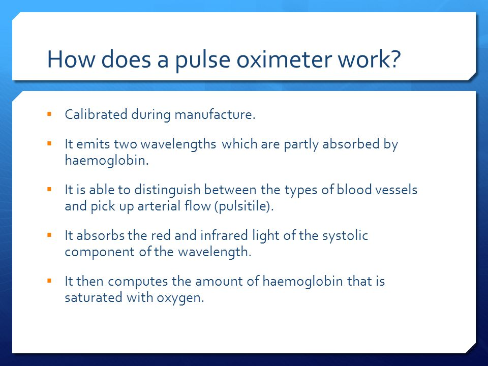 How does a pulse oximeter work