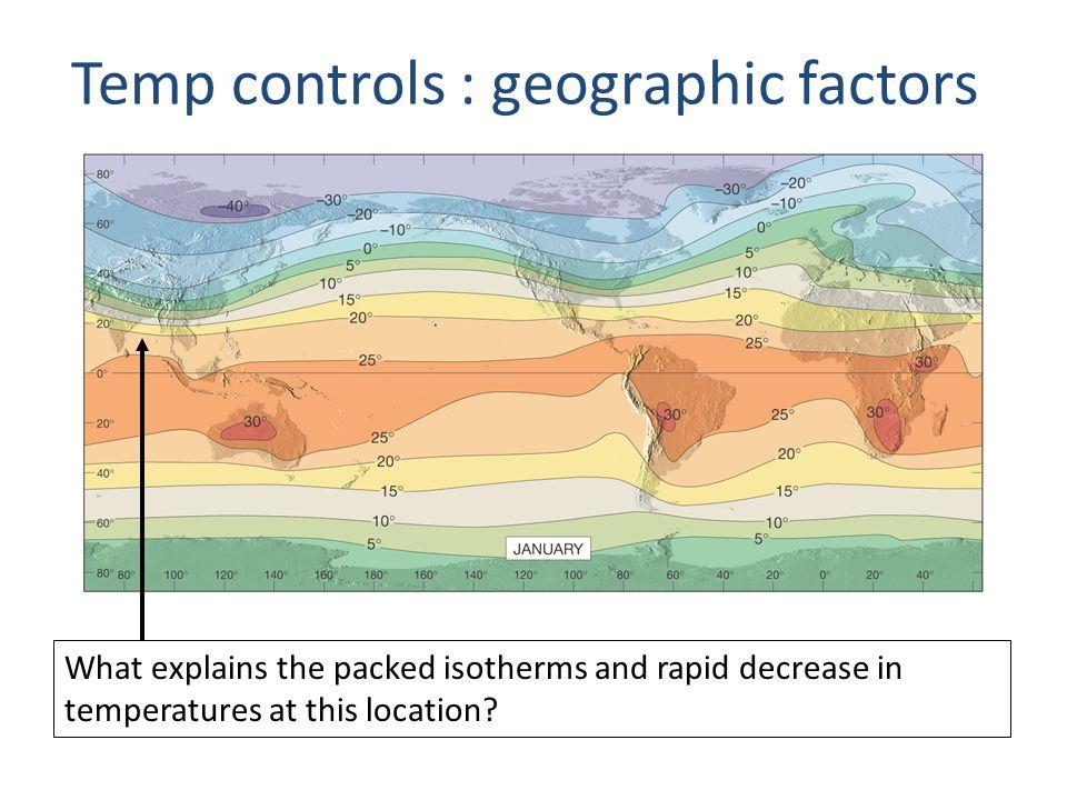 Temp controls : geographic factors