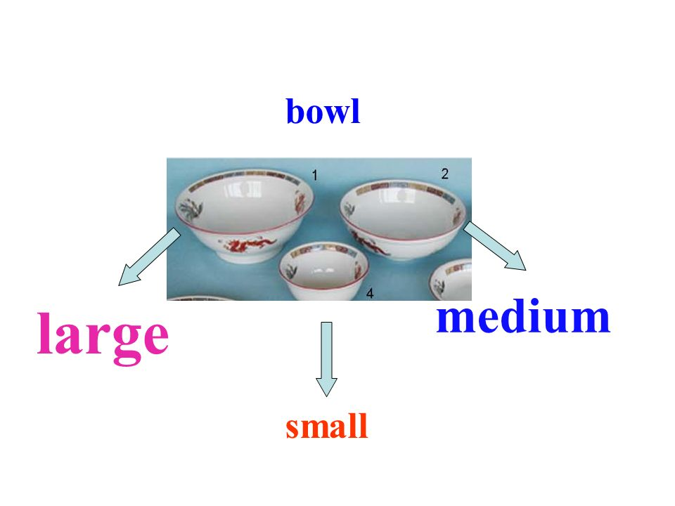 bowl medium large small