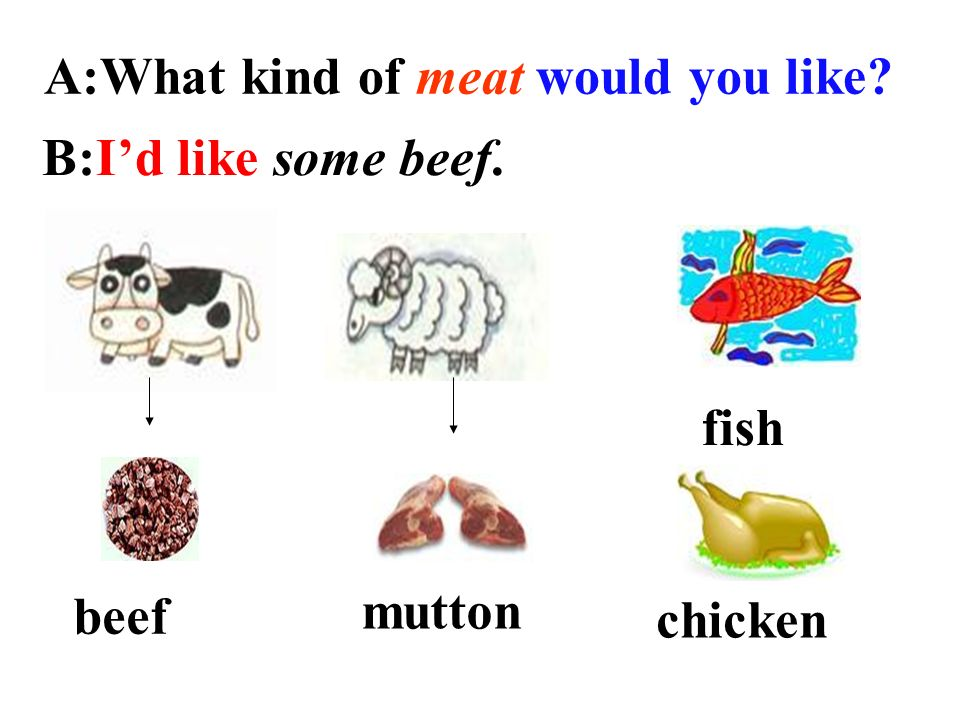 A:What kind of meat would you like