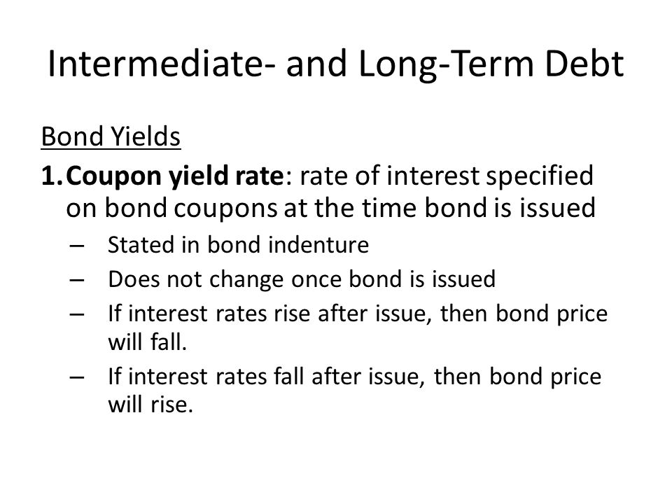 Intermediate- and Long-Term Debt