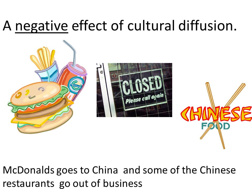 A negative effect of cultural diffusion.