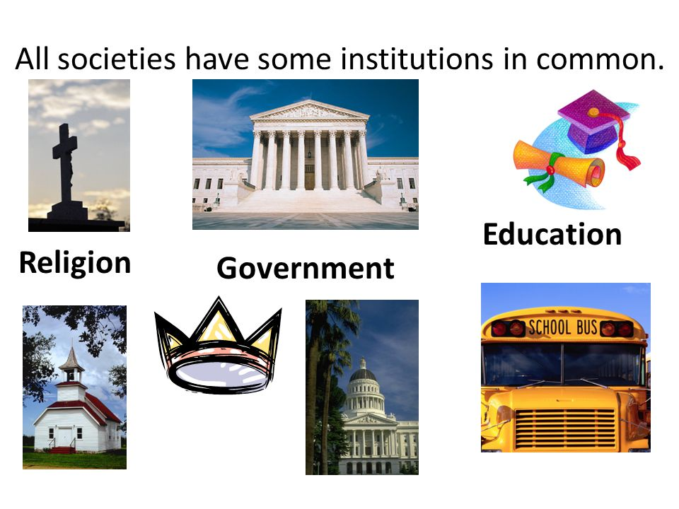 All societies have some institutions in common.