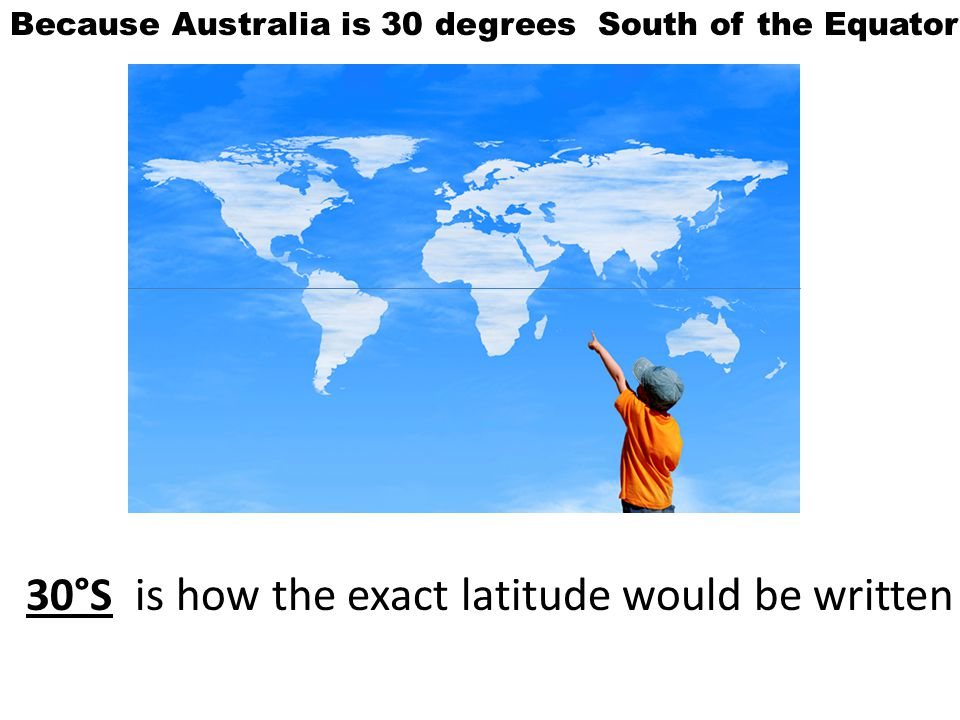 30°S is how the exact latitude would be written