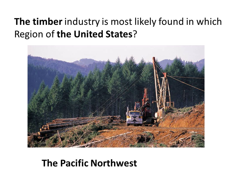 The timber industry is most likely found in which Region of the United States