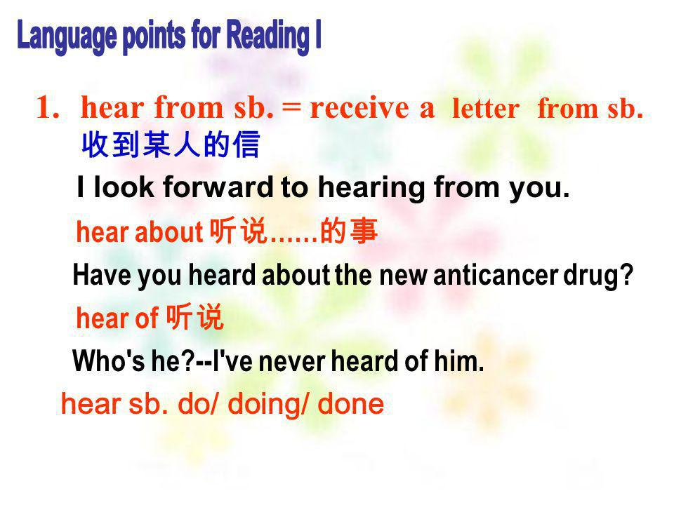 Language points for Reading I