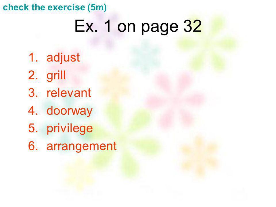 Ex. 1 on page 32 adjust grill relevant doorway privilege arrangement