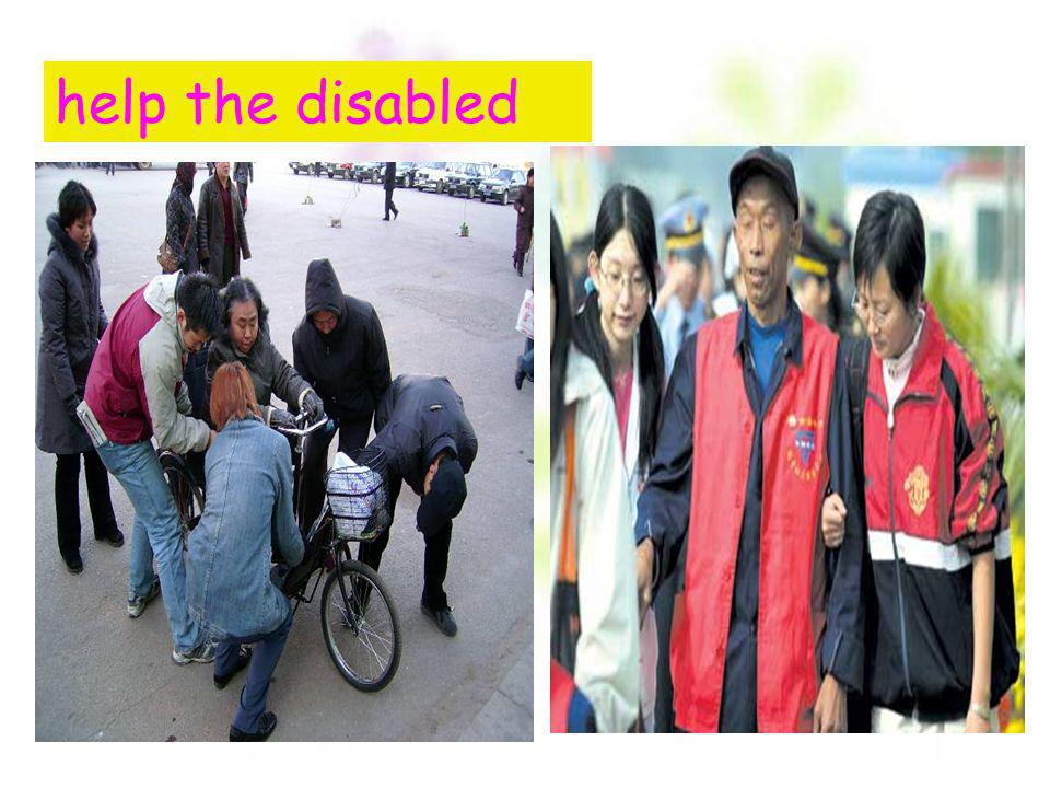 help the disabled
