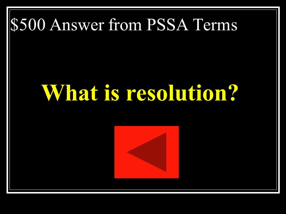 $500 Answer from PSSA Terms