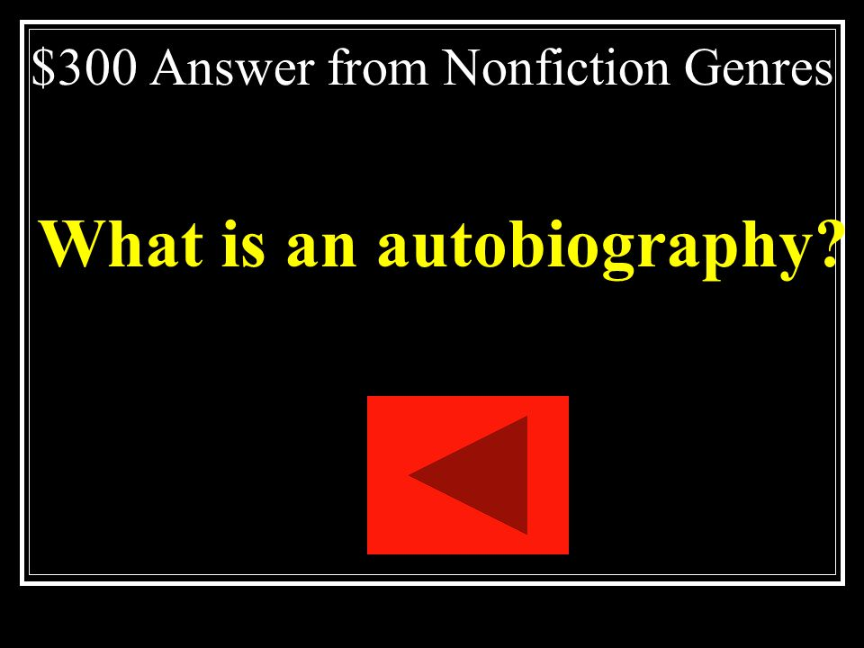 $300 Answer from Nonfiction Genres