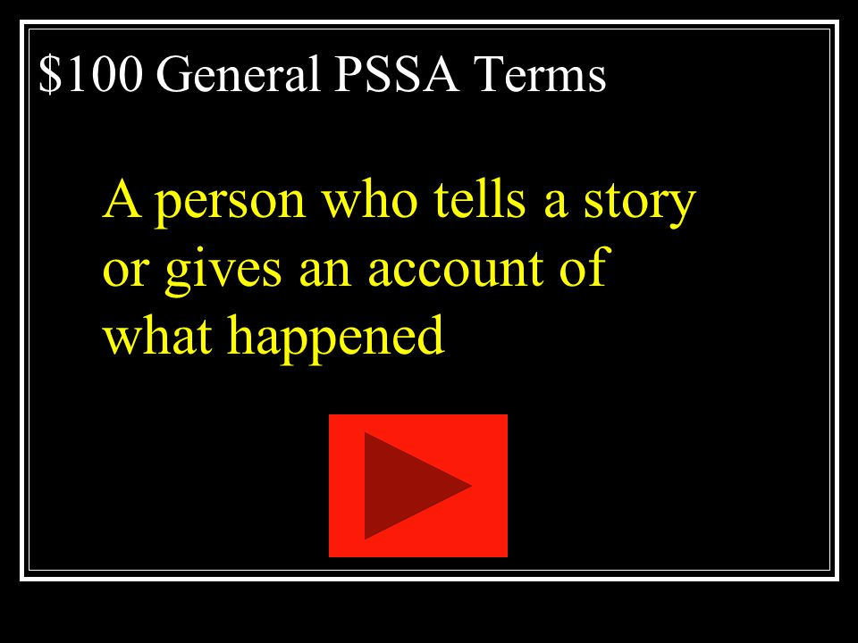 A person who tells a story or gives an account of what happened
