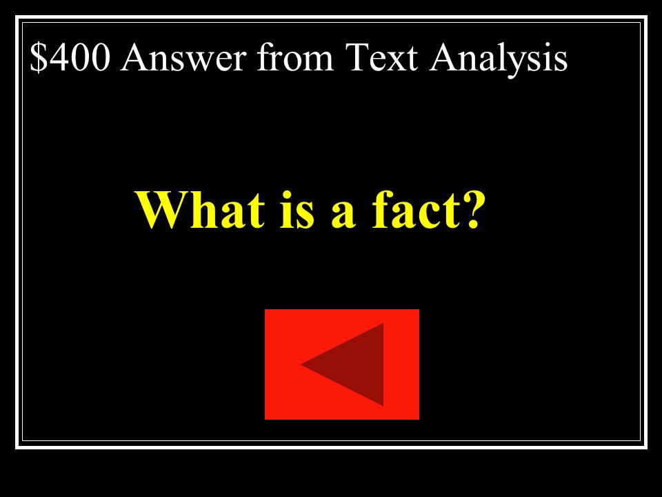 $400 Answer from Text Analysis