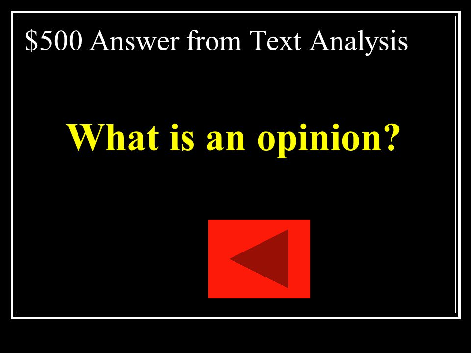 $500 Answer from Text Analysis