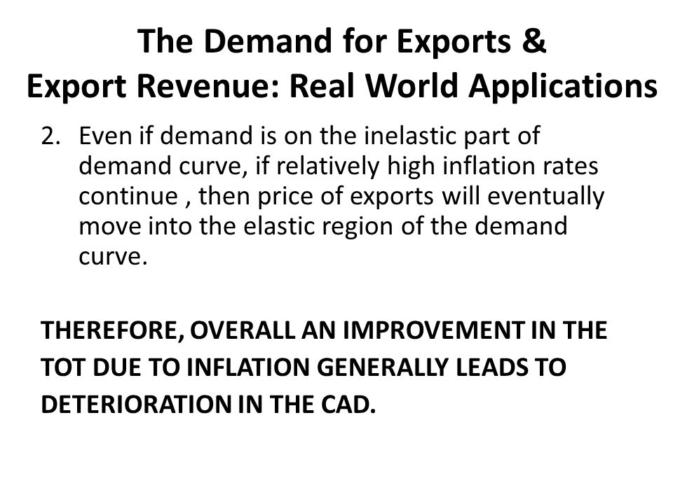 The Demand for Exports & Export Revenue: Real World Applications