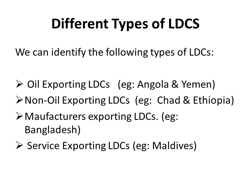 Different Types of LDCS