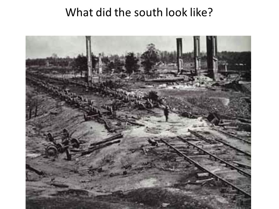 What did the south look like