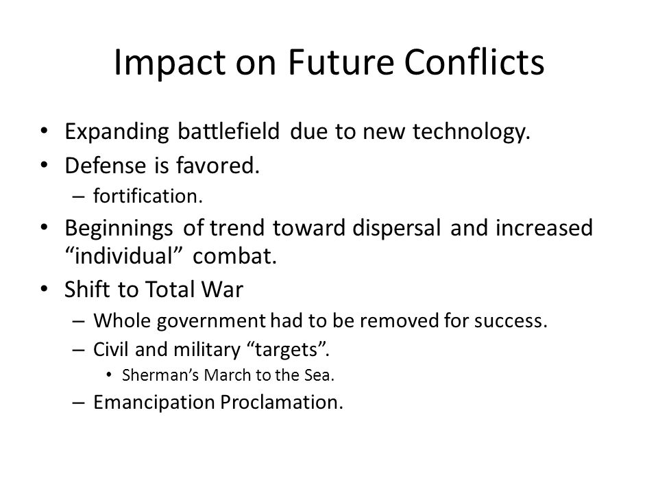 Impact on Future Conflicts