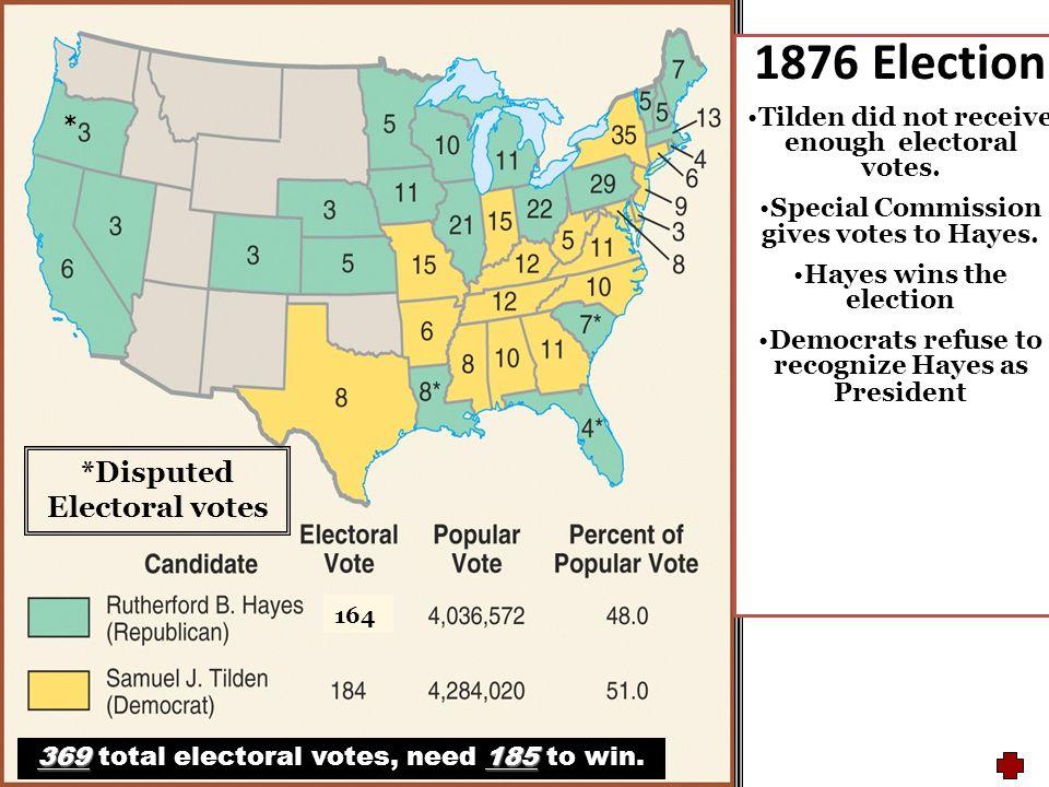1876 Election *Disputed Electoral votes