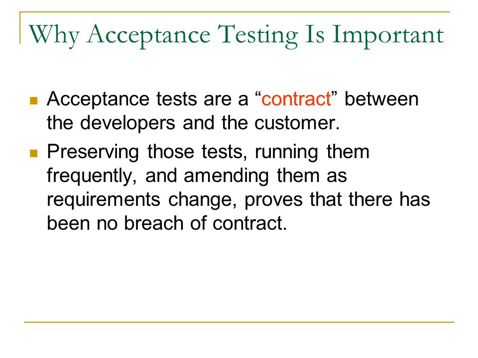 Why Acceptance Testing Is Important