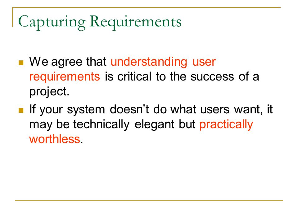 Capturing Requirements