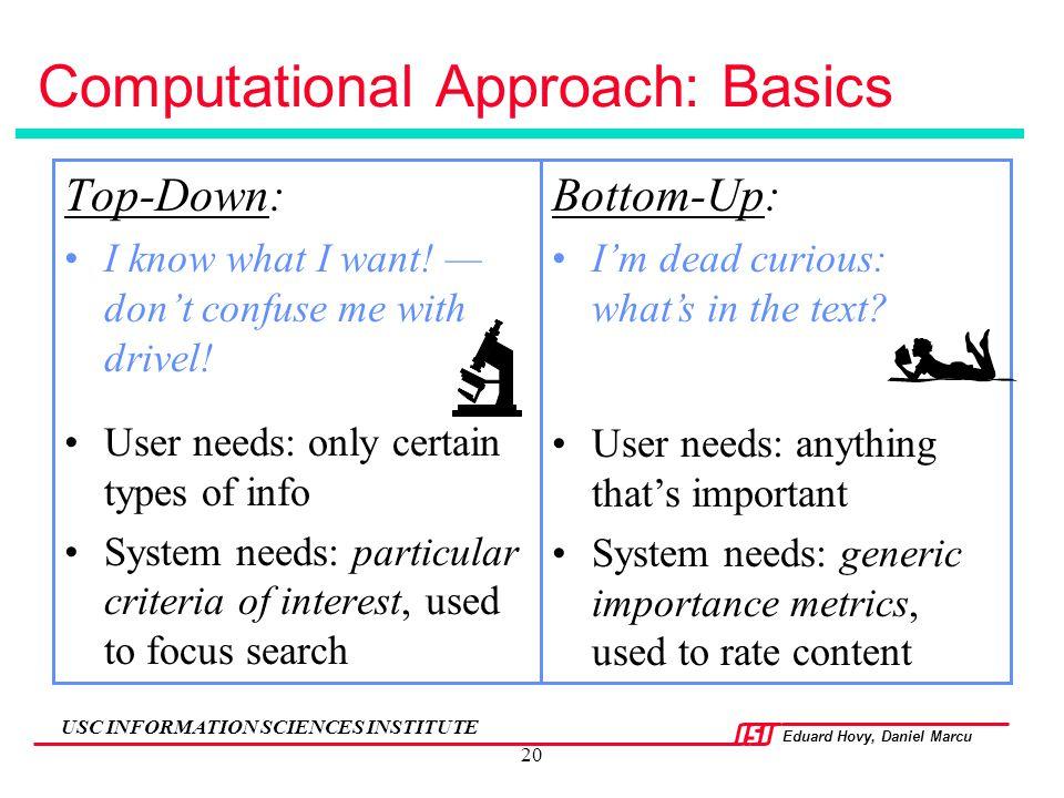 Computational Approach: Basics