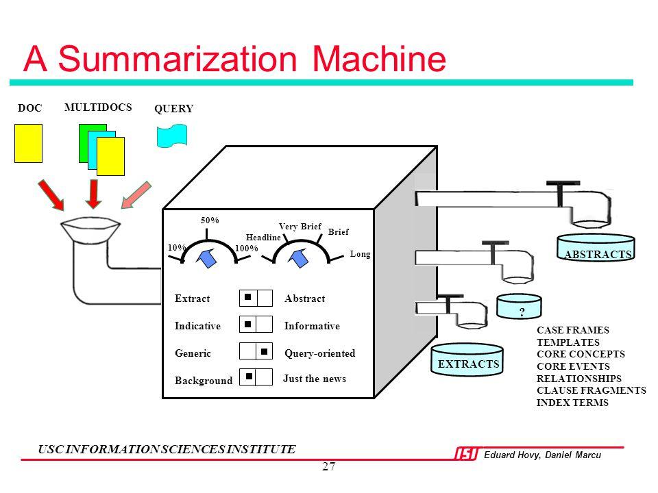 A Summarization Machine