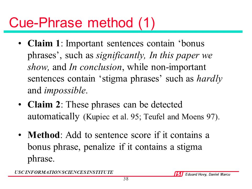 Cue-Phrase method (1)