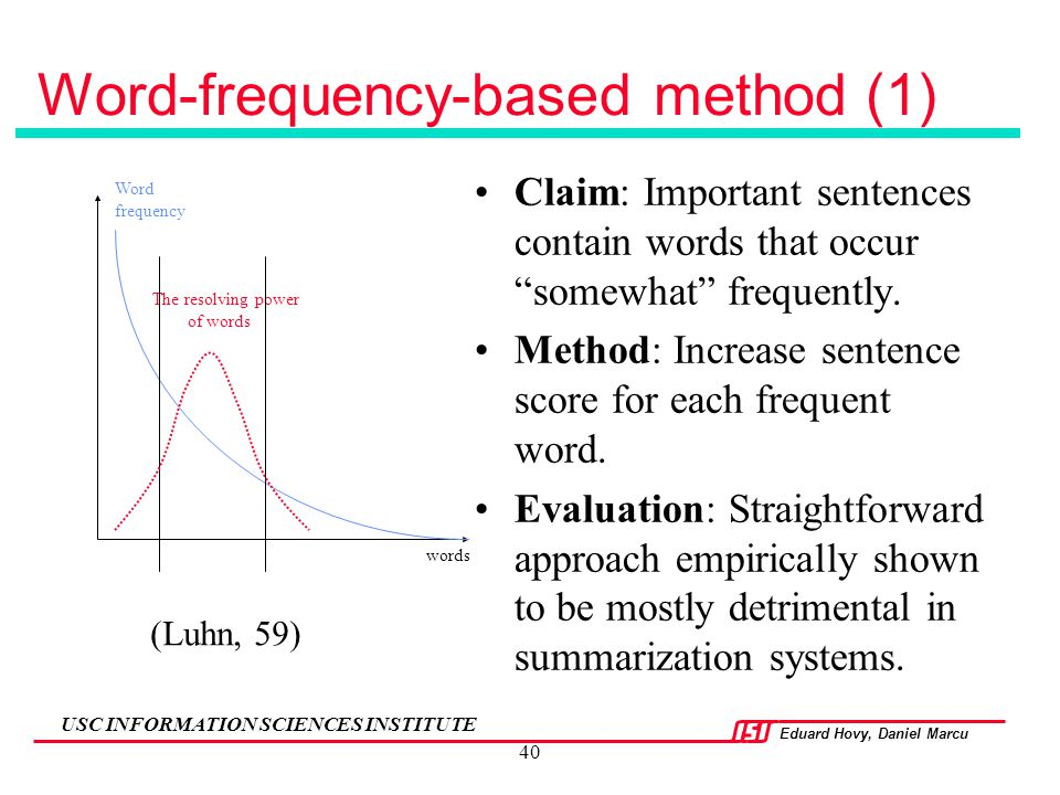 Word-frequency-based method (1)