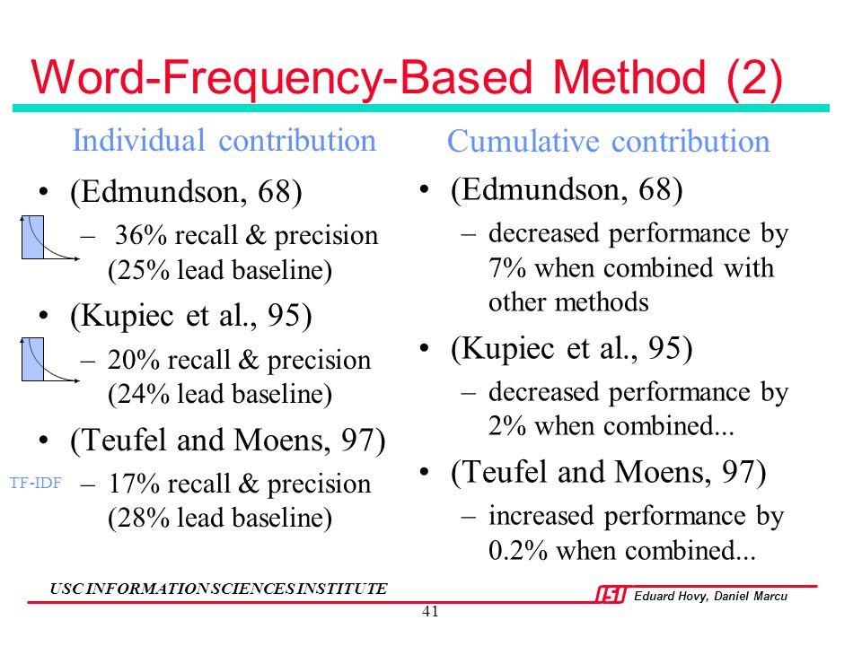 Word-Frequency-Based Method (2)