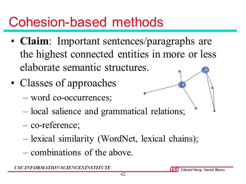 Cohesion-based methods