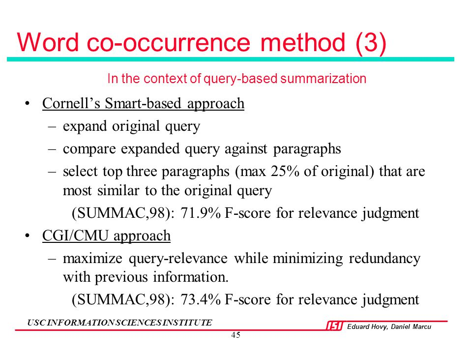 Word co-occurrence method (3)