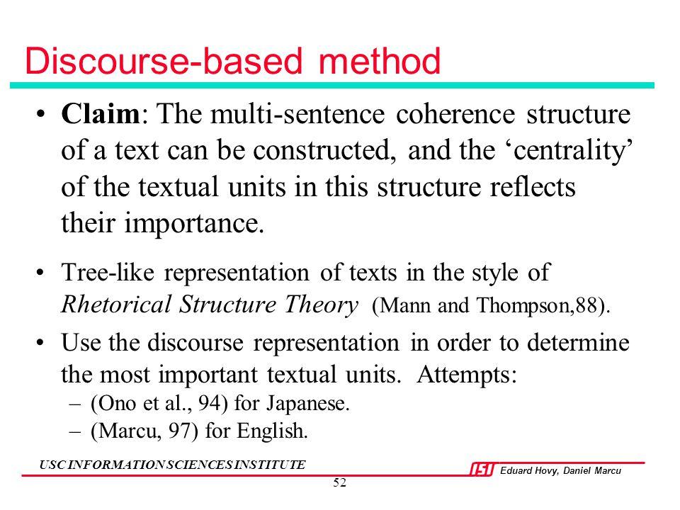 Discourse-based method